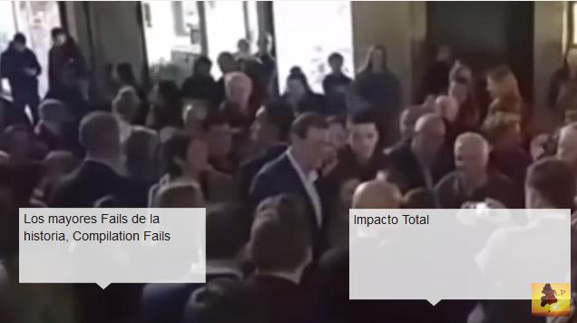 لكمة قوية أطاحت برئيس الوزراء الاسباني وحطمت نظارته